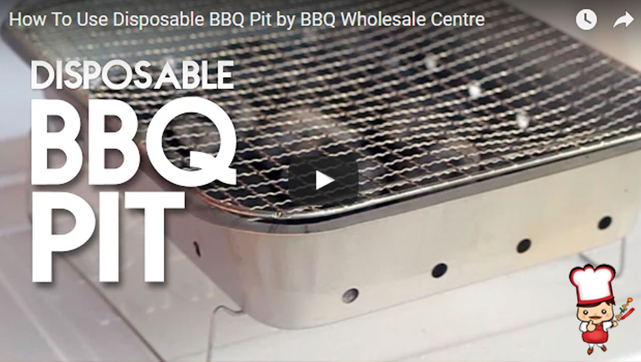 BBQ Singapore How to Use Disposable BBQ Pit Video Tutorial