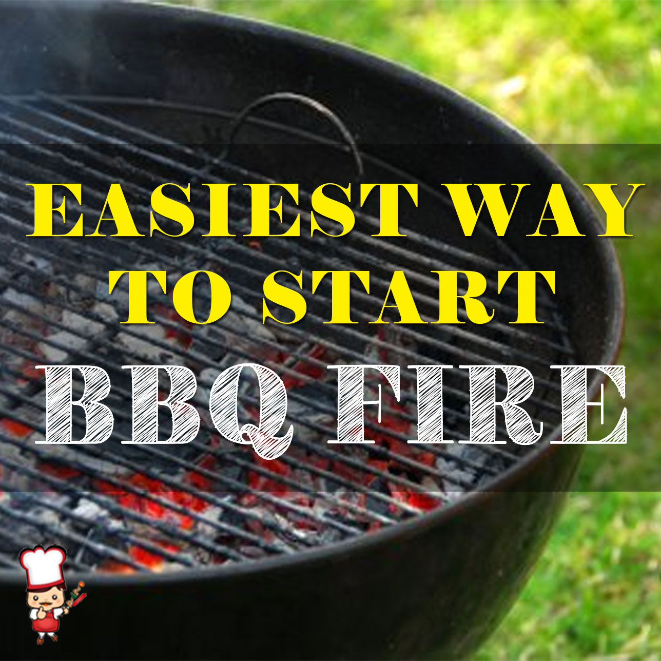 Eastiest Way to Start BBQ Charcoal Fire