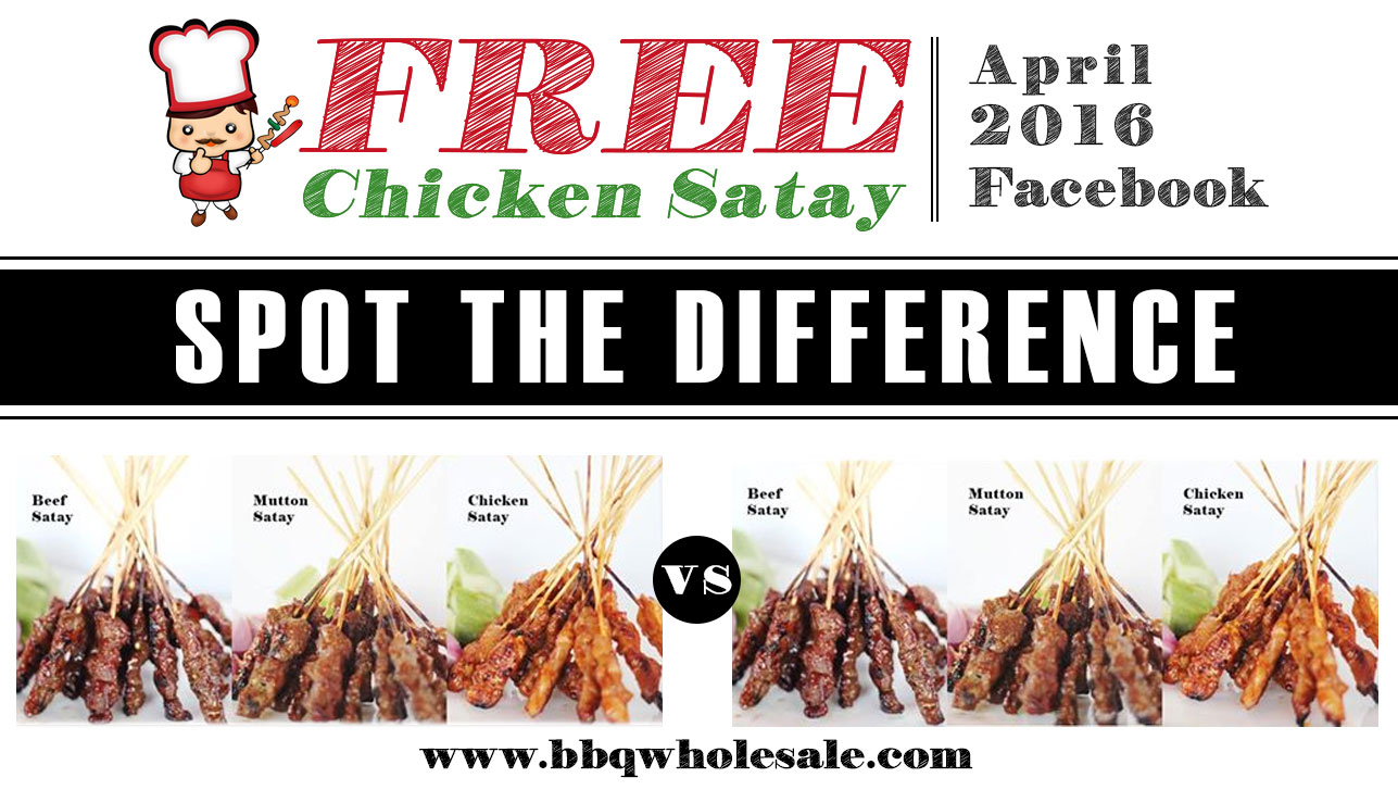 Facebook 2016 BBQ Contest Win Chicken Satay Spot The Difference Contest