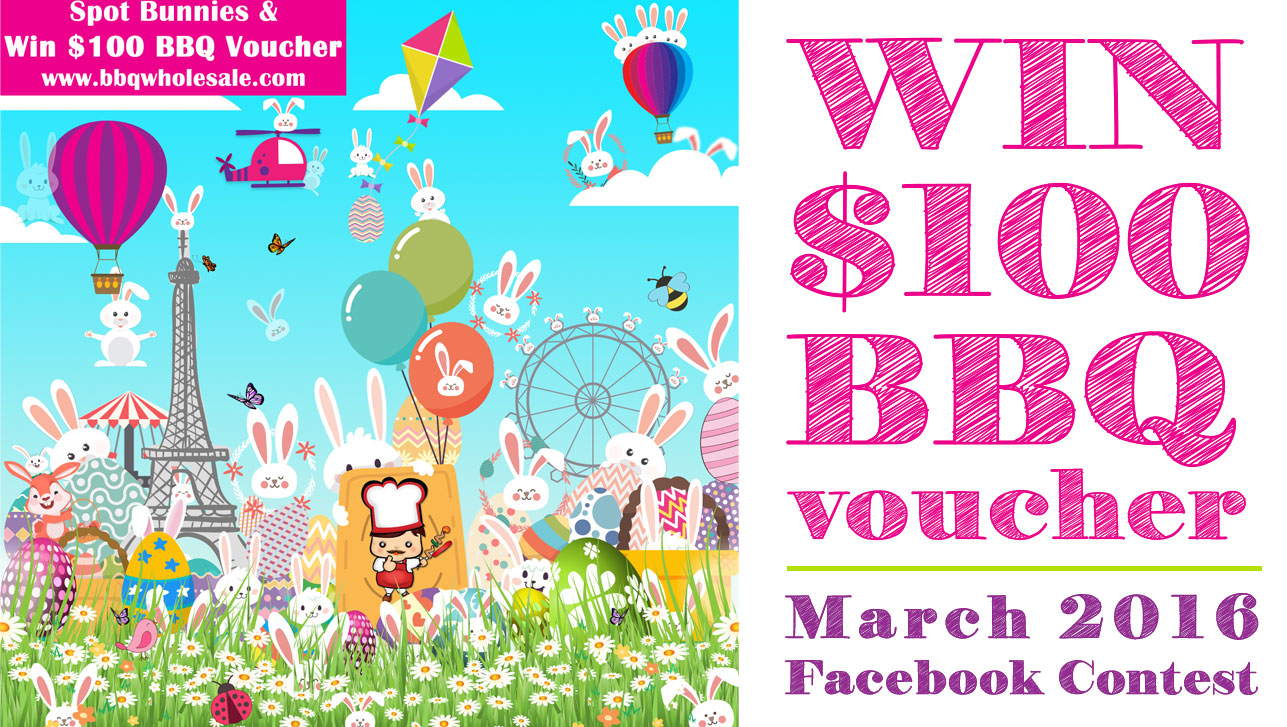BBQ Wholesale Singapore March 2016 Facebook Promotion Win $100 BBQ Voucher