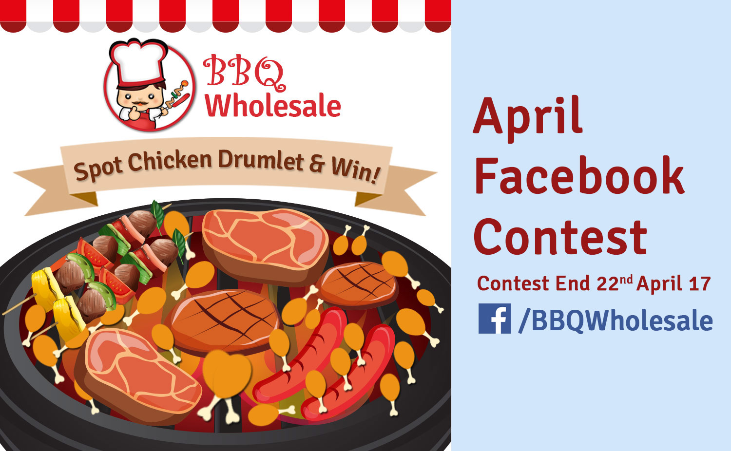 BBQ-Wholesale-BBQ-Facebook-April-Contest-Spot-Chicken-Wing-Win-FREE-Chicken-Satay