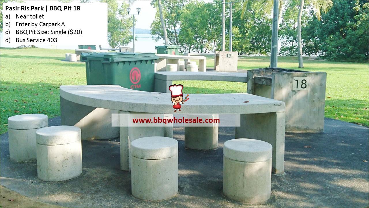 Pasir Ris Park BBQ Pit 18 BBQ Wholesale Frankel