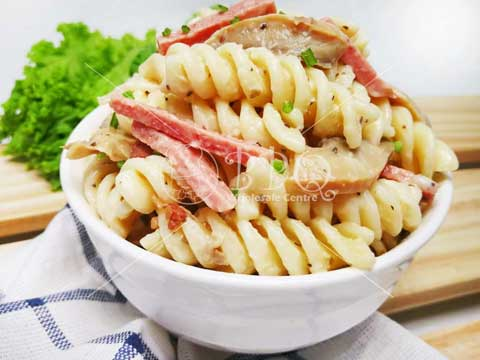 Chilled-Cooked-Food-Ham-and-mushroom-pasta-BBQ-Wholesale-Frankel-Singapore