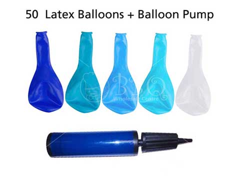 DIY-Mix-Blue-Ombre-Latex-Balloon-With-Balloon-Pump-by-BBQ-Wholesale-Frankel