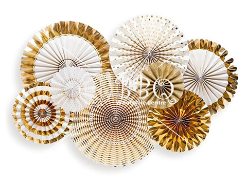 Gold-Paper-Fan-BBQ-Wholesale-Singapore