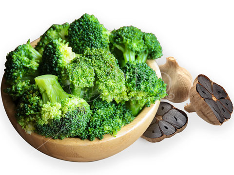 Halal-Stir-Fried-Broccoli-with-Black-Garlic-BBQ-Wholesale-Frankel-Singapore